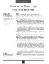 Treatment of Menorrhagia with Tranexamic Acid* - Queen's University