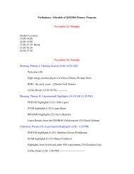 Preliminary schedule of QM2006 plenary talks (PDF)