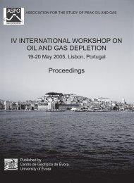 IV INTERNATIONAL WORKSHOP ON OIL AND GAS DEPLETION ...