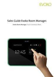 Sales Guide Evoko Room Manager.