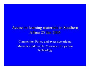 Competition Policy and Excessive Pricing - The African Copyright ...