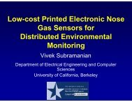 Low-cost Printed Electronic Nose Gas Sensors for Distributed ...