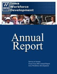 Year 2003 Annual Report - Iowa Workforce Development