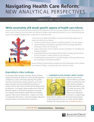 Health Care Consulting Bulletin, Summer/Fall 2009 - Analysis Group