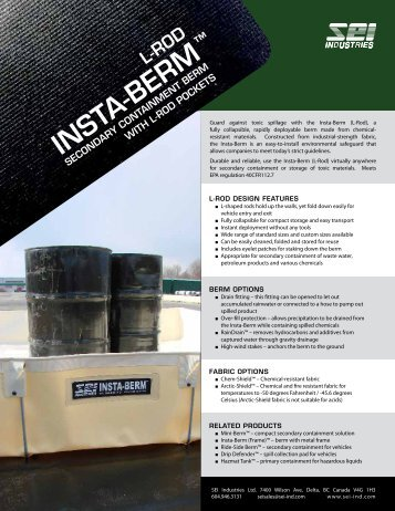 Insta-Berm (L-Rod) - SEI Industries Ltd.