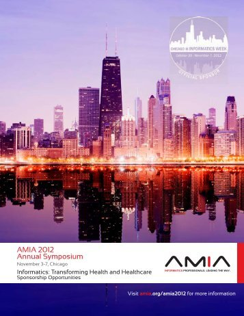 AMIA 2012 Annual Symposium - American Medical Informatics ...