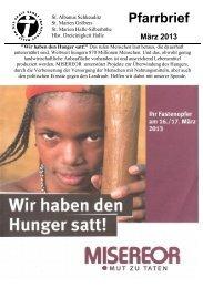 Download des Pfarrbriefes - St. Franziskus Halle