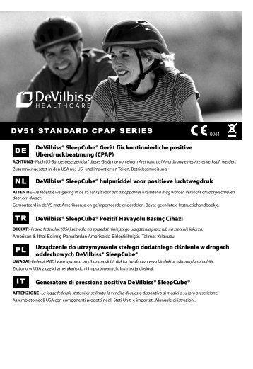 DV51 StanDarD cpap SerieS De pL - DeVilbiss Healthcare
