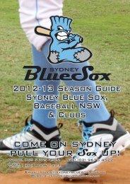 Sydney Blue Sox 2012 Information Pack - Australian Baseball League