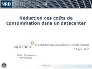 Réduction des coûts de consommation dans un Datacenter