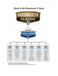 Road to the Bassmaster Classic - Ontario BASS Federation Nation