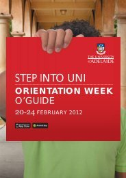 orientation week - University of Adelaide