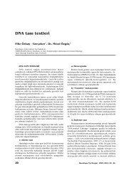 DNA tan› testleri - Hacettepe Üniversitesi Tıp Fakültesi