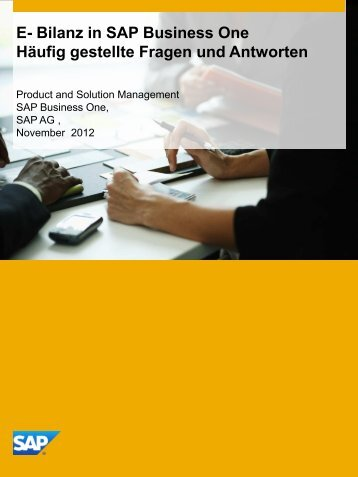 E- Bilanz in SAP Business One Häufig gestellte ... - variatec GmbH