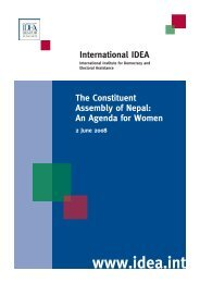 The Constituent Assembly of Nepal: An Agenda for Women - CAPWIP