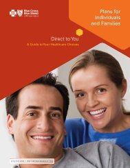 Direct to You Plans for Individuals and Families - Blue Cross & Blue ...