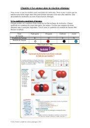 Chapitre 4: Les atomes dans la réaction chimique version 2011