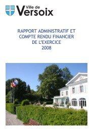 Télécharger le Compte rendu administratif et financier 2008 - Versoix