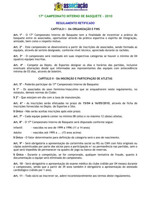 ASSOCIAÇÃO DOS FUNCIONÁRIOS PÚBLICOS DO MUNICIPIO