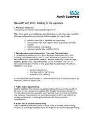 EQUALITY ACT 2010 - NHS North Somerset