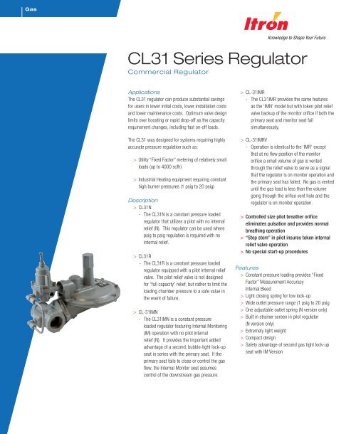 to download the Itron CL31R Gas Pressure Regulator