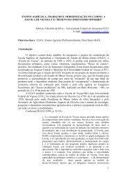 Ensino agrícola, trabalho e modernização no campo - Centro de ...