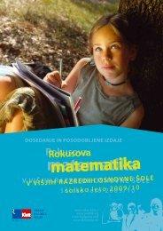 Rokusova matematika - predstavitveni katalog za Å¡olsko leto 2009/10