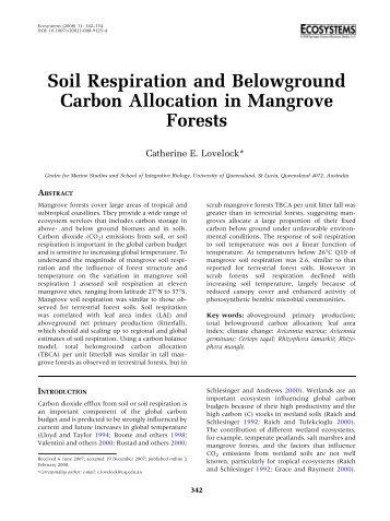 Soil Respiration and Belowground Carbon ... - Biology Major