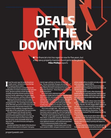 deals of the downturn It - Patron Capital