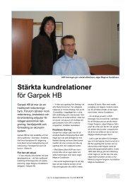 Stärkta kundrelationer för Garpek HB - Mamut