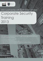 Corporate Security Training 2013 - MIS Training