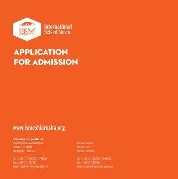Application Form (PDF) - International School Moshi