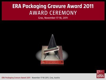 ERA Packaging Gravure Award 2011