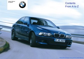 Online Edition for Part No. 01 41 0 156 225 - © 09/01 BMW AG