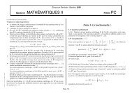 Sujet de Mathématiques II PC 2009 - Concours Centrale-Supélec