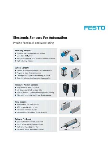 Electronic Sensors For Automation - Festo