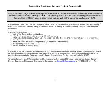 Aoda customer service policy bdi canada for Aoda policy template