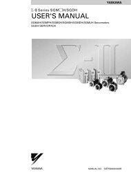 Sigma-II Series SGM*H/SGDH USER'S MANUAL - Esco Drives ...