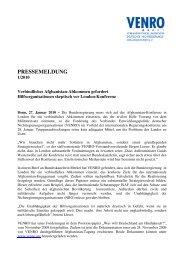 PRESSEMELDUNG - Venro