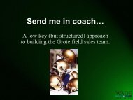 Send me in coach… - Wade-Partners.com