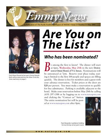 Who has been nominated? - National Academy of Television Arts ...