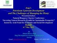 Ahmed Mousa Jiyad -Iraq's Petroleum Upstream Development and ...