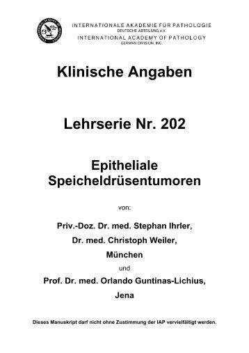Klinische Angaben Lehrserie Nr. 202 Epitheliale ... - Iap-bonn.de