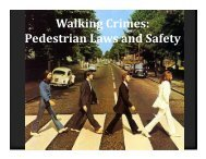 Pedestrian & Bicycle Law - Texas Municipal Courts Education Center