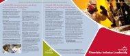 Chemistry Industry Leadership Brochure - Cincinnati USA
