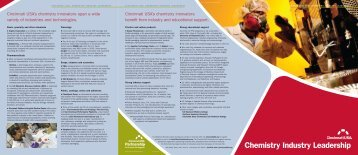 Chemistry Industry Leadership Brochure - Cincinnati USA
