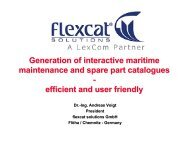 Generation of interactive maritime maintenance and spare part ...