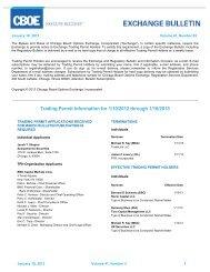 Trading Permit Information for 1/10/2012 through 1/16 ... - CBOE.com