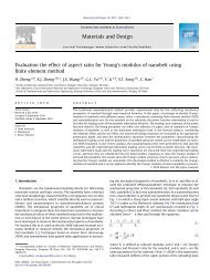 Evaluation the effect of aspect ratio for Young's modulus of ...