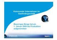 Kommunale Unternehmen im Gasfördergeschäft ... - Bayerngas GmbH